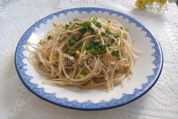 清炒黄豆芽的做法