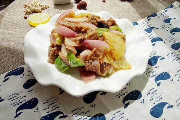 牛肉炒洋葱土豆