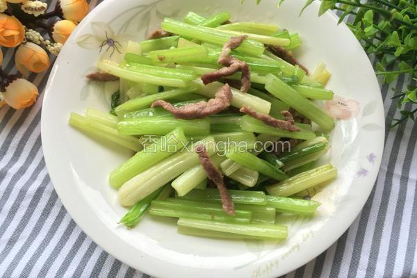 猪肉炒芹菜