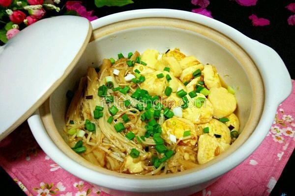 金针菇日本豆腐煲