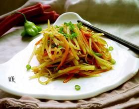 胡萝卜丝炒土豆丝[图]