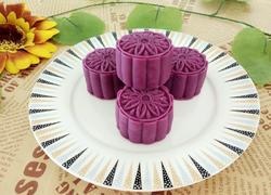 紫薯莲蓉月饼