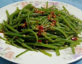 凉拌红薯叶茎