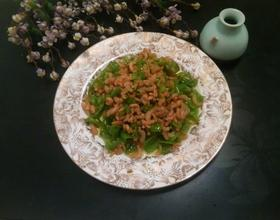 青椒炒虾米