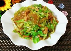圆白菜粉丝炒肉