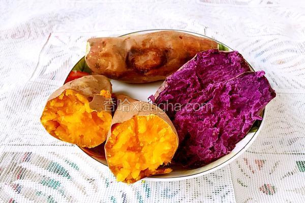 烤箱版烤红薯(紫薯)