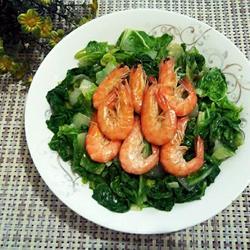 虾炒白菜的做法[图]