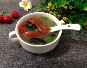 番茄皮蛋汤