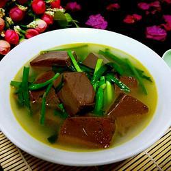猪血韭菜汤的做法[图]