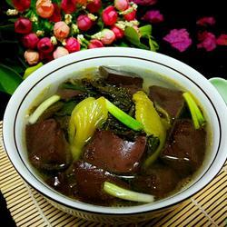 酸菜猪血汤的做法[图]