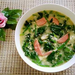 菠菜疙瘩汤的做法[图]