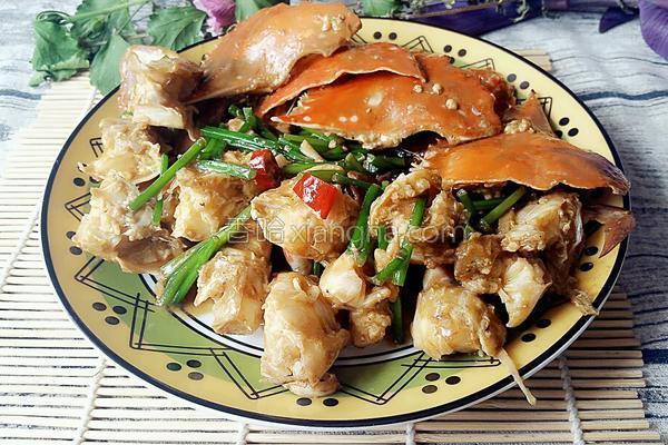 炒蟹的做法