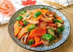 肉炒洋葱胡萝卜