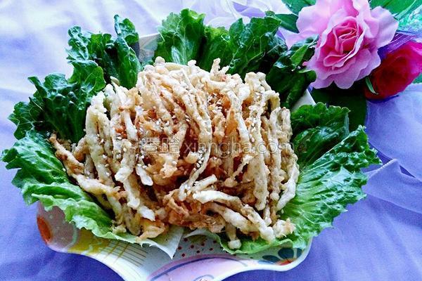 椒盐蘑菇的做法