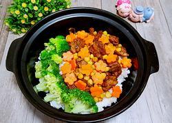 排骨玉米萝卜煲仔饭