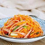 红萝卜炒火腿