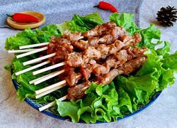 微波炉烤羊肉串