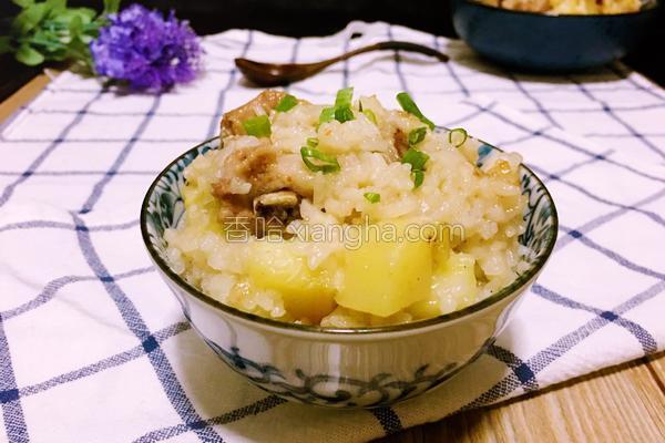 排骨糯米饭的做法