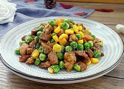 豌豆玉米炒嫩牛肉