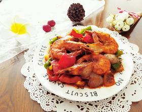 巴基斯坦红咖喱虾