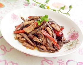 茄子干炒肉