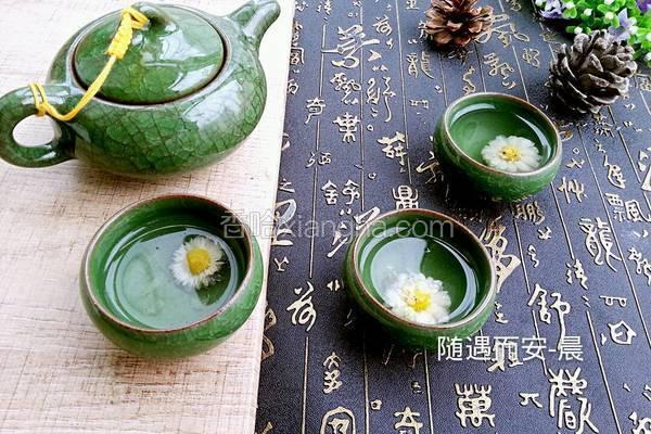 柠檬蜂蜜菊花茶