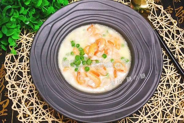 奶香青豆煨河虾