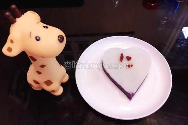 宝宝辅食-紫薯山药糕