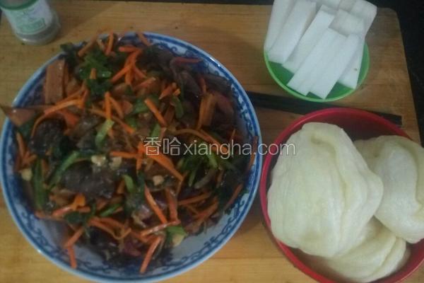 蘑菇火腿小白菜