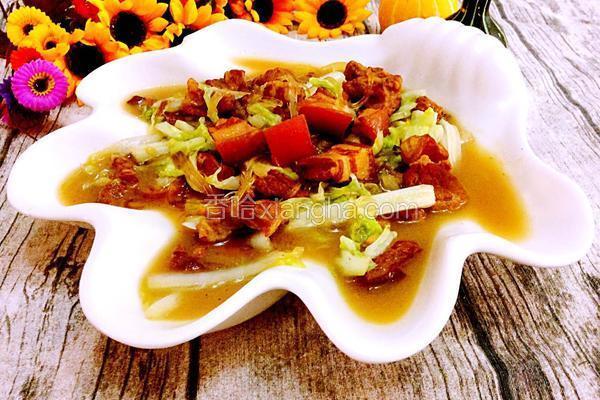 红烧肉炖白菜粉条
