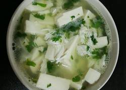 蟹肉荠菜豆腐汤
