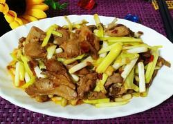 韭黄炒鸭肉