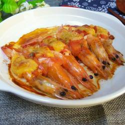番茄烤大虾