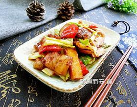 圆白菜回锅肉