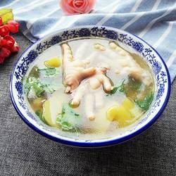 佛手瓜黄豆鸡脚汤