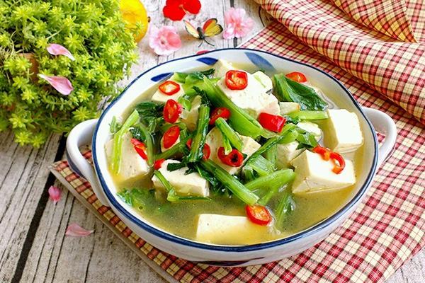 小白菜烧豆腐