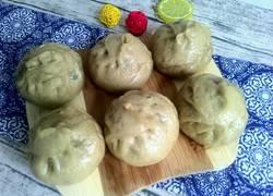 地瓜面山菜包子
