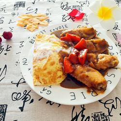 奶香鸡翅咖喱蛋包饭