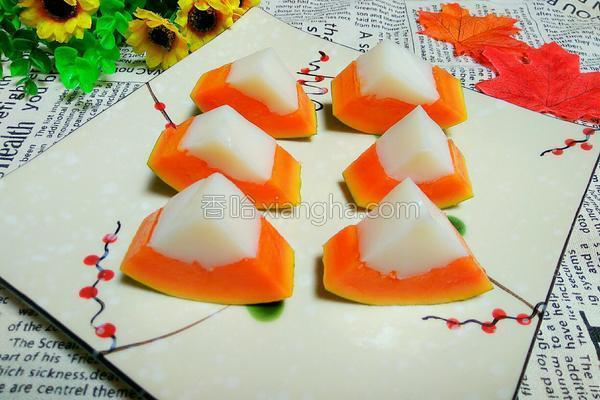 木瓜椰子冻的做法