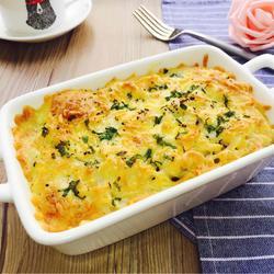 海鲜奶酪焗意面