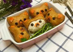 日式豆腐皮手握饭团