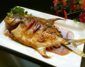 红烧金鲳鱼[图]