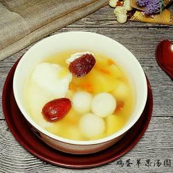 鸡蛋苹果圆子汤