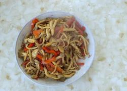 红椒炒蘑菇