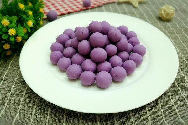自制紫薯小汤圆