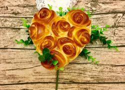 心形玫瑰花面包