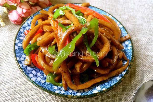 青椒炒油豆腐丝
