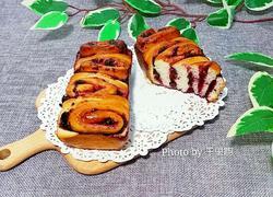 蓝莓酱面包卷