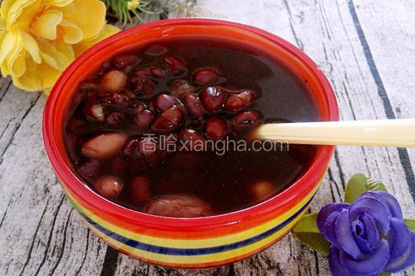 紫米红豆粥