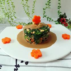 麻酱拌花生菠菜的做法[图]